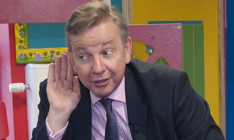 Michael Gove on a school visit